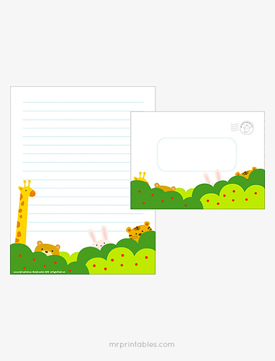 Forest Writing Paper Set - Mr Printables - printable writing paper with lines