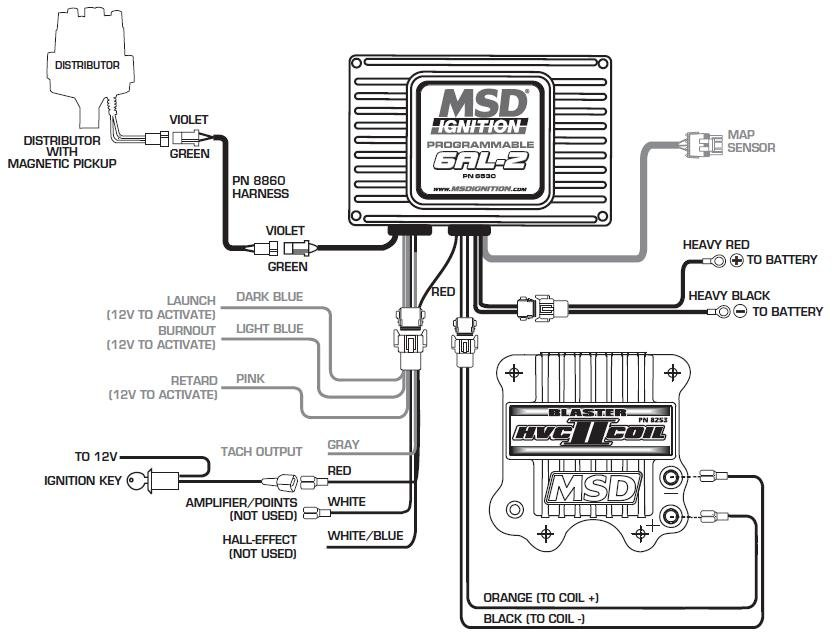 msd 6al wiring diagram for chevy 350 small block