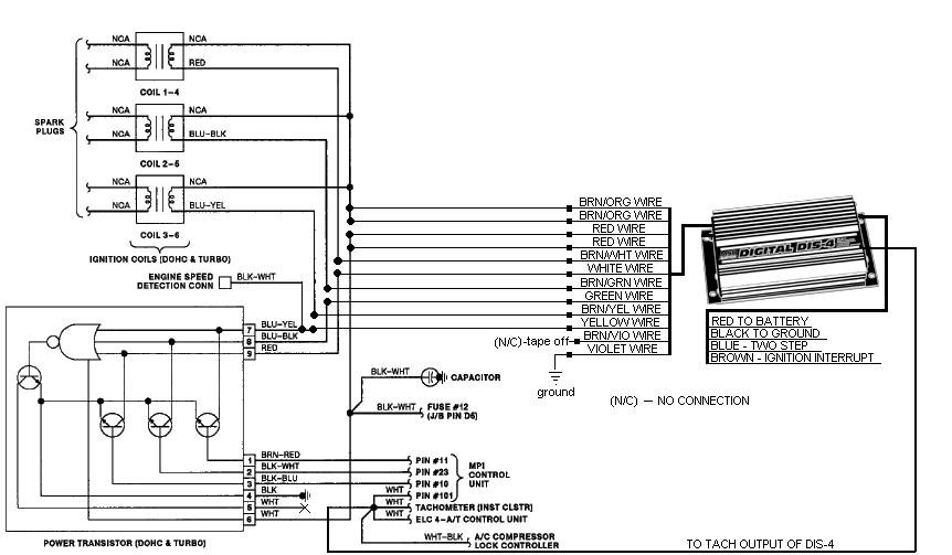 msd dis 4 wiring diagram
