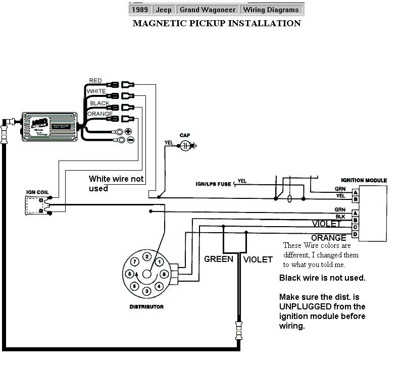 msd wiring jeep 1989