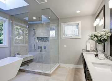 Fensterglas Badezimmer