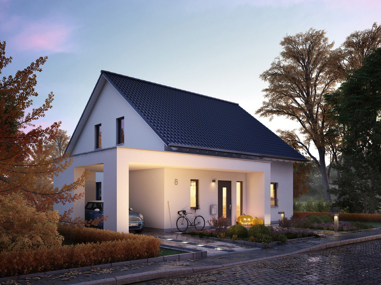 Schluesselfertiges Haus Kaufen   Haus Solution 87 V4 Living Haus
