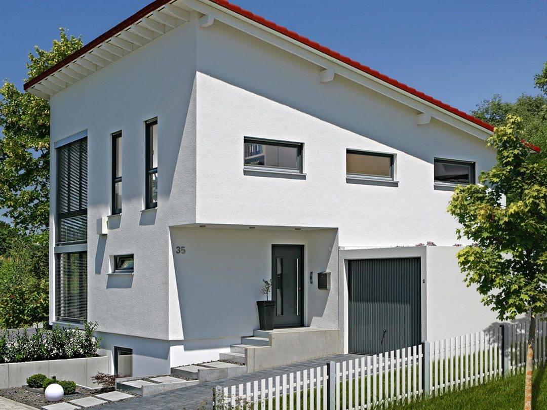 haus schl sselfertig unter bauhaus rauch fertighaus weiss musterhaus. Black Bedroom Furniture Sets. Home Design Ideas
