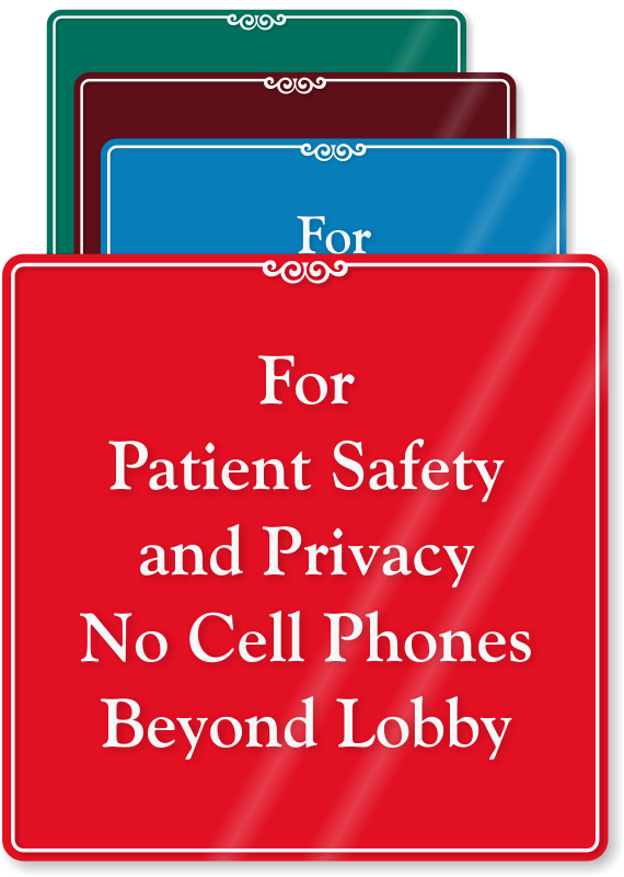 no cellphones sign