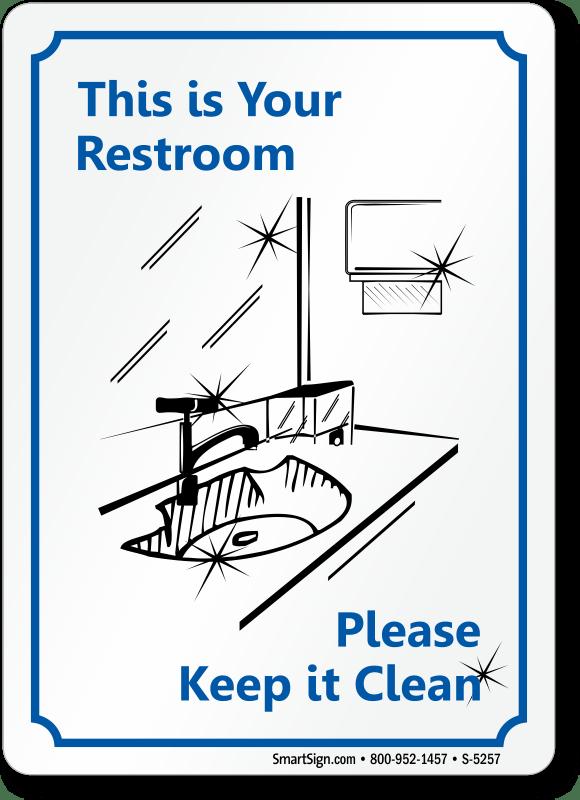 Bathroom etiquette signs restroom etiquette signs