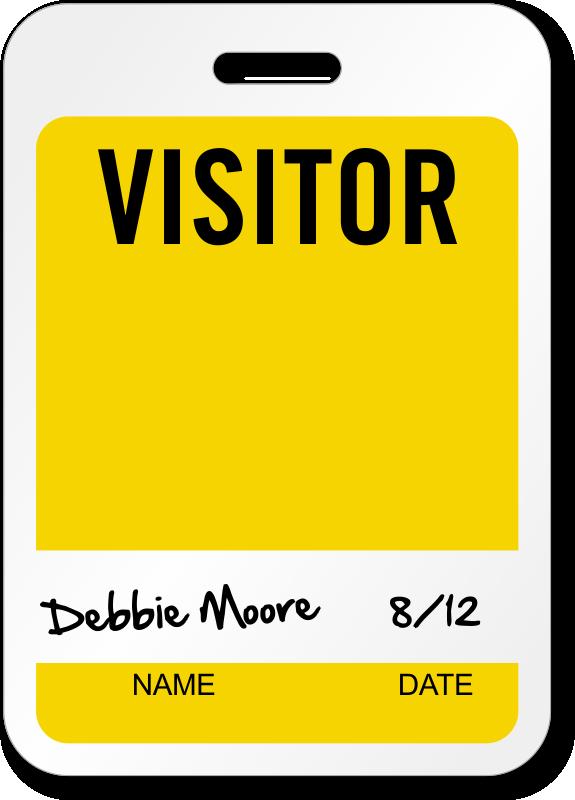 visitors badge template