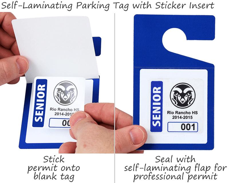Self Laminating Parking Permits And Blank Hang Tags