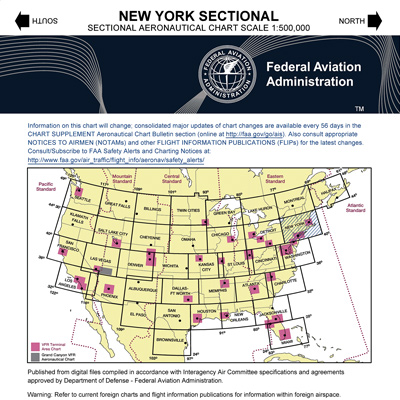 VFR NEW YORK Sectional Chart - MyPilotStore