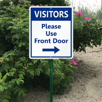 Please Use The Front Door Sign - Frasesdeconquista.com