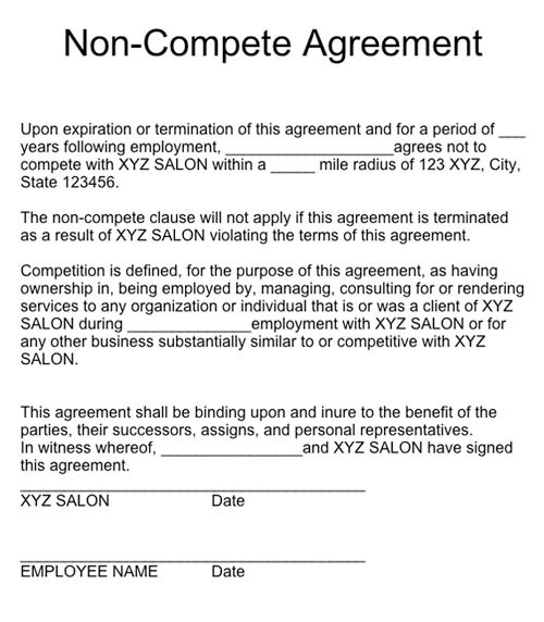 Non Compete Agreement Texas | Update Your Resume When Looking For ...