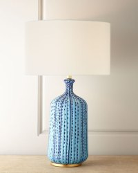 AERIN Culloden Pebbled Aquamarine Table Lamp