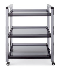 Interlude Home Cleo Noire Acrylic Bar Cart