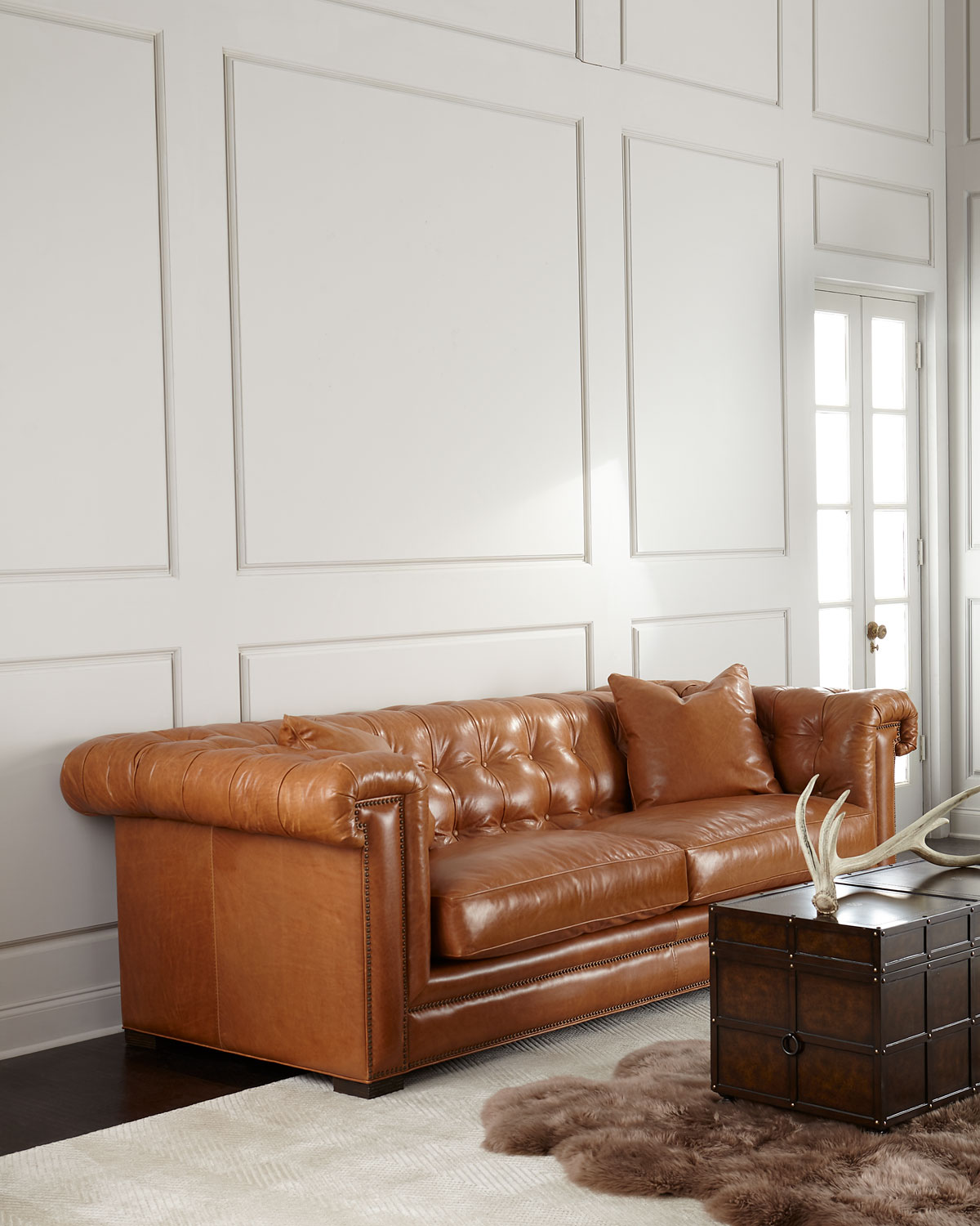 Chesterfield Lounge Zayden Chesterfield Leather Sofa