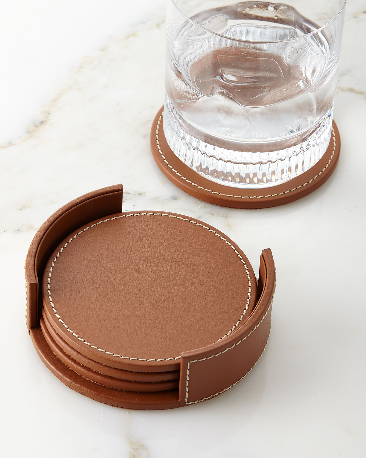Where To Buy Coasters Ralph Lauren Home Wyatt Leather Coasters Set Of 4