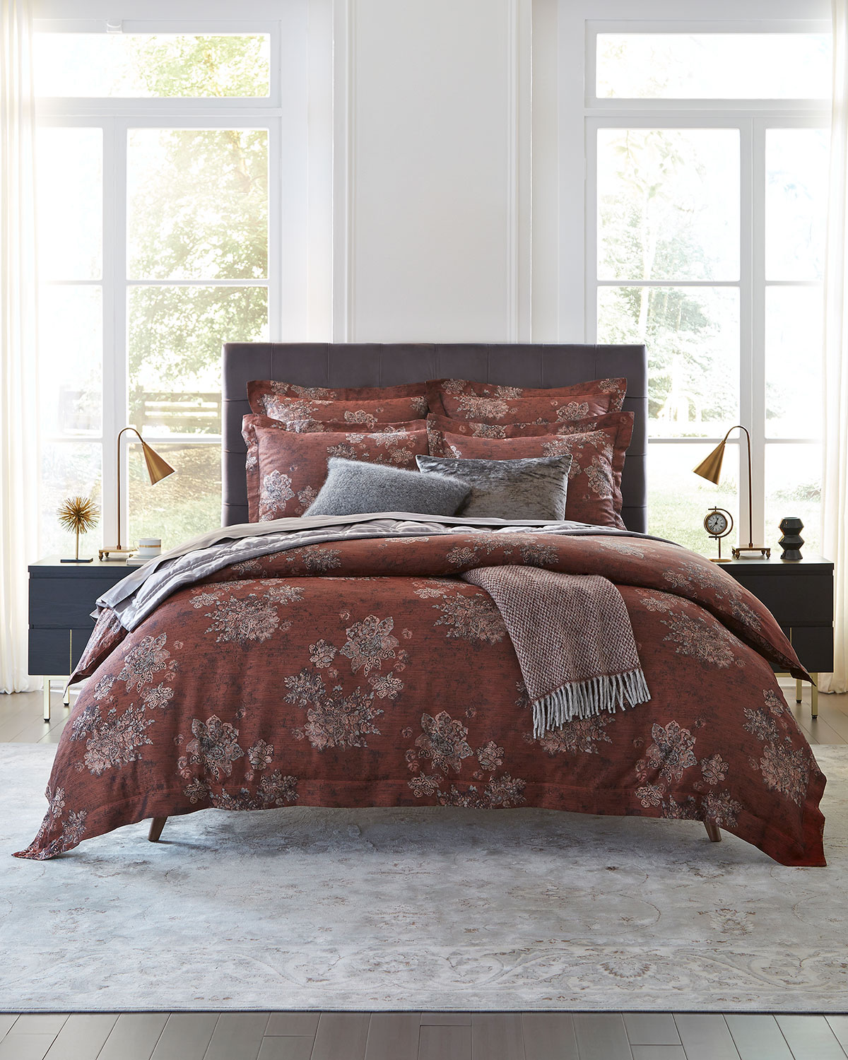 Quilt Cover King Stamped Floral King Duvet Cover