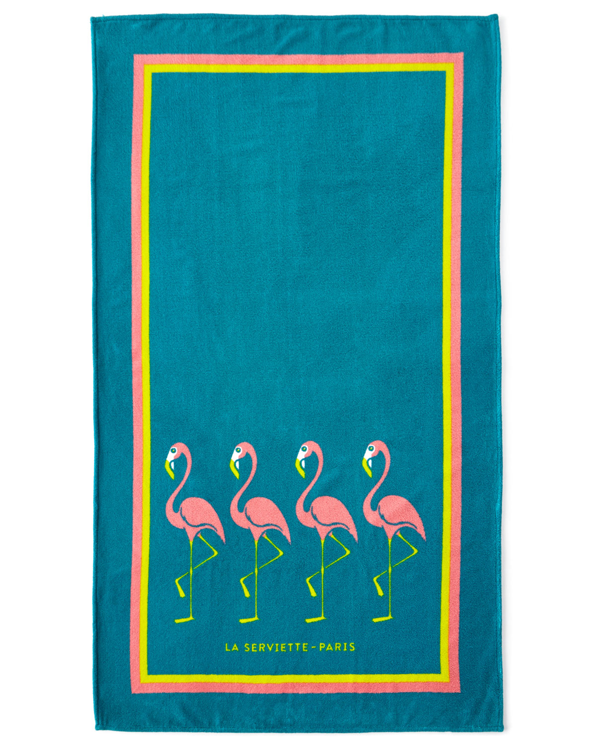 Serviette Portugal Flamingo Beach Towel Turquoise