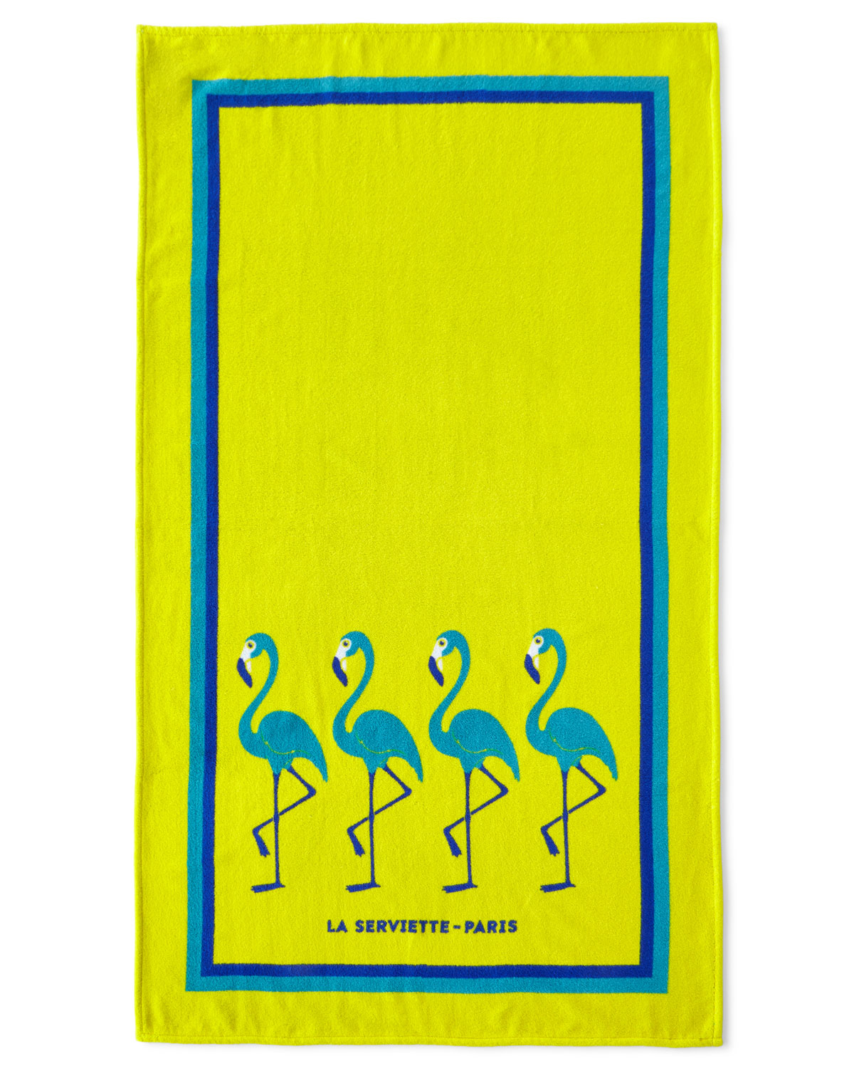 Serviette Portugal Flamingo Beach Towel Yellow