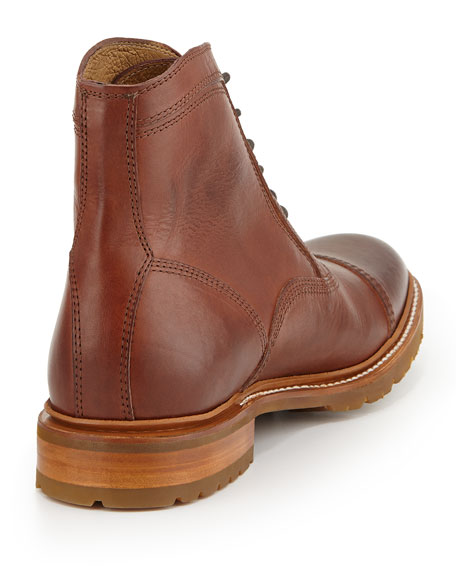 Frye James Balmoral Lug Boot Redwood
