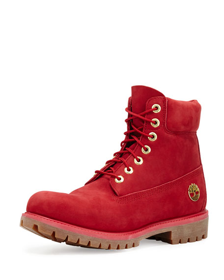 Timberland 6quot Premium Waterproof Hiking Boot Red Neiman