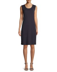 Misook Pullover Sleeveless Tank Dress, Petite | Neiman Marcus