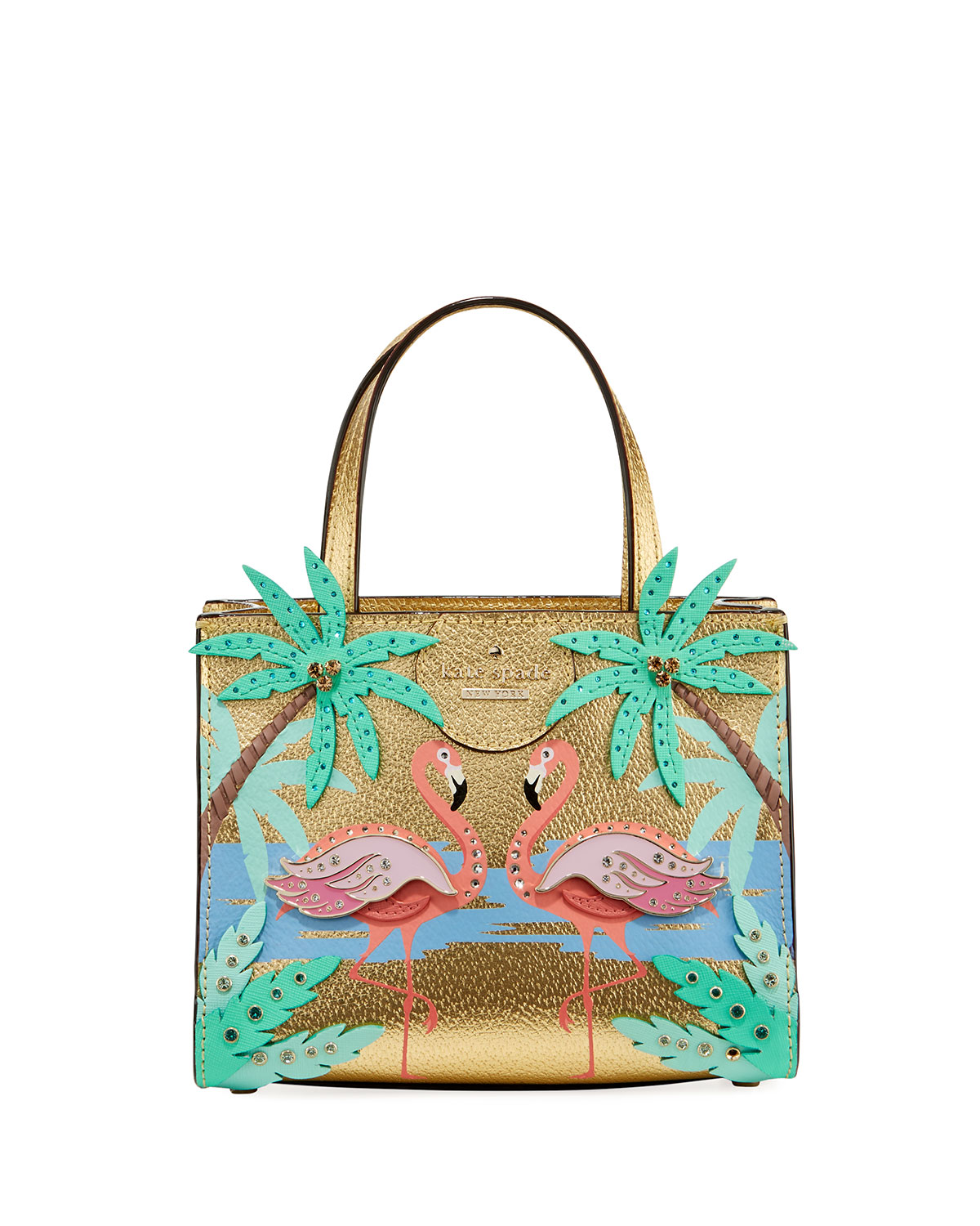 By The Pool Flamingo Kate Spade By The Pool Flamingo Scene Small Sam Satchel Bag