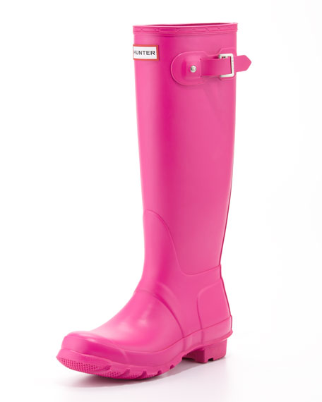 Hunter Boot Original Tall Welly Boot Lipstick Pink