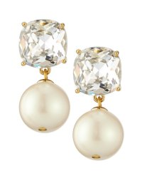 kate spade new york faux pearl and crystal drop earrings