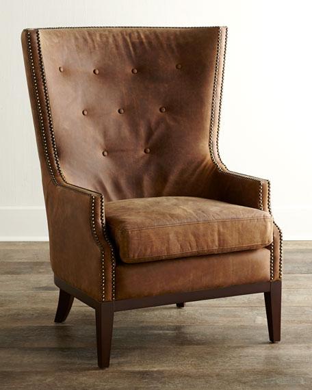 Oak Leather Chair Neiman Marcus
