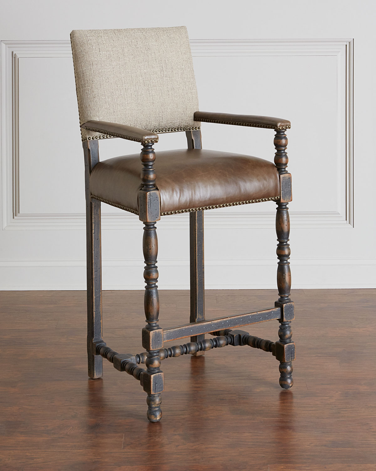 Bar Stool Chairs Casella Leather Bar Stool