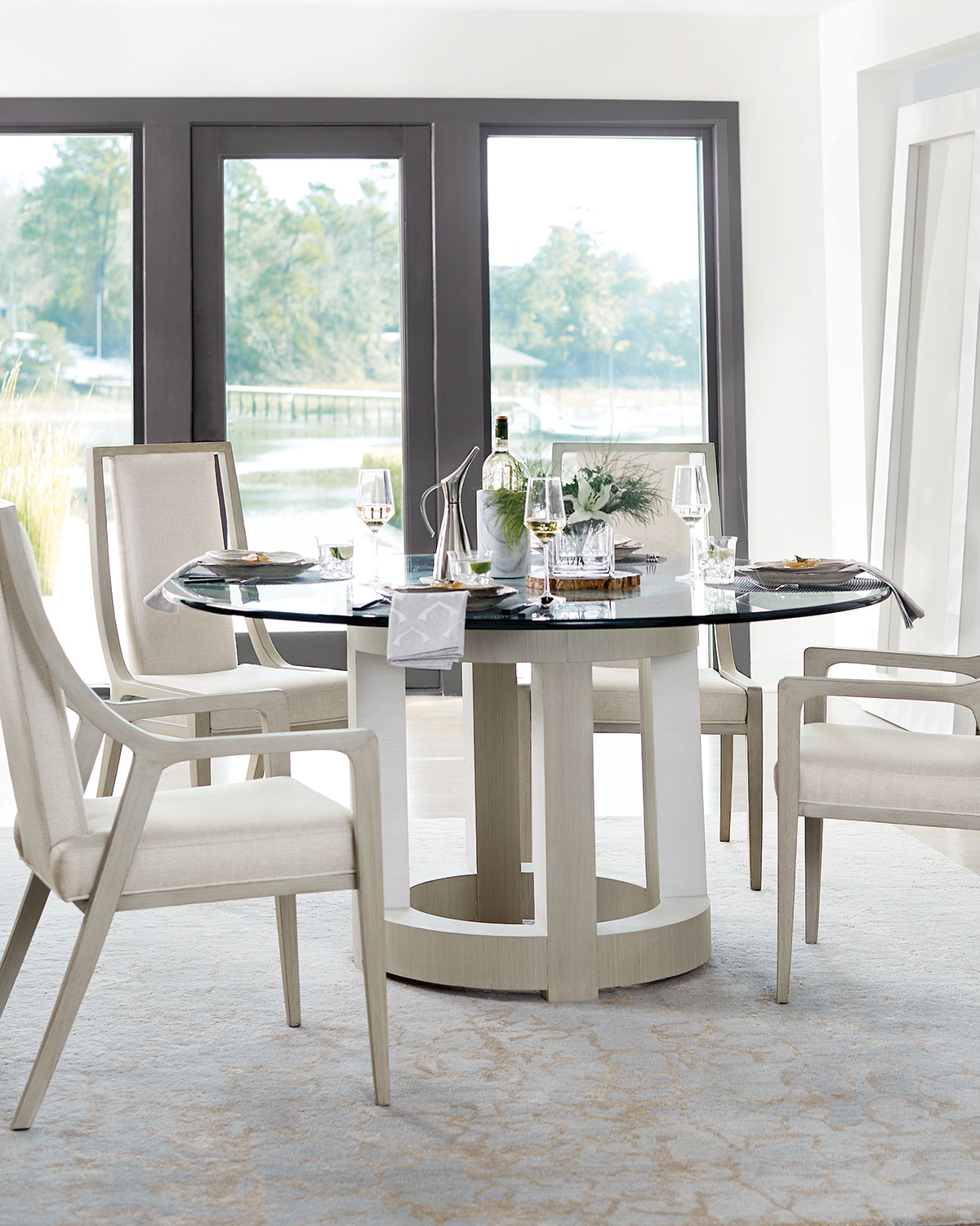 Round Glass Top Dining Table Axiom Round Glass Top Dining Table 60