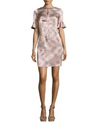 Nanette Lepore Marseille Flutter-Sleeve Silk Sheath Dress ...