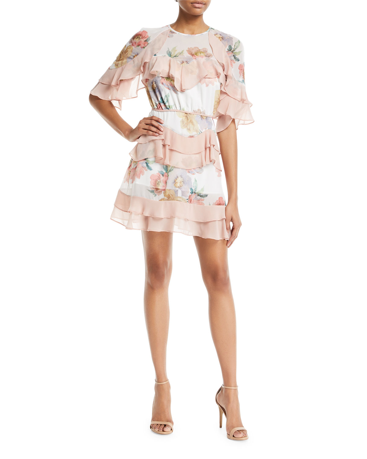 Maison Darcy La Maison Talulah Darcy Floral Print Mini Dress With