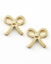 Dogeared Gold Bow Earrings | Neiman Marcus
