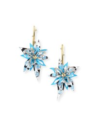 Alexis Bittar Poppy-Painted Lucite Flower Drop Earrings ...