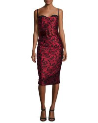 Michael Kors Collection Rose Jacquard Sleeveless Cocktail ...