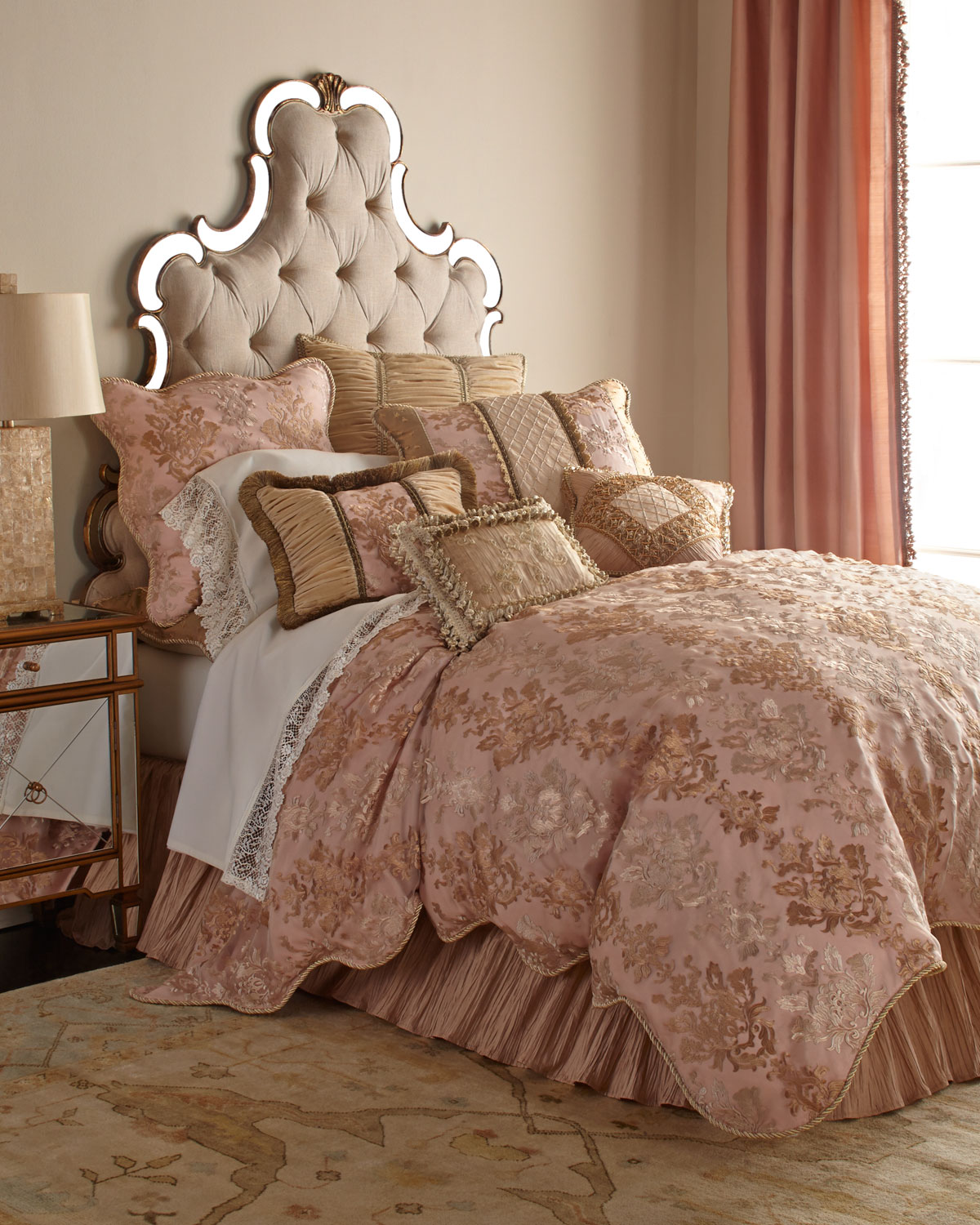Damask Duvet King Alessandra Scalloped Damask Duvet Cover