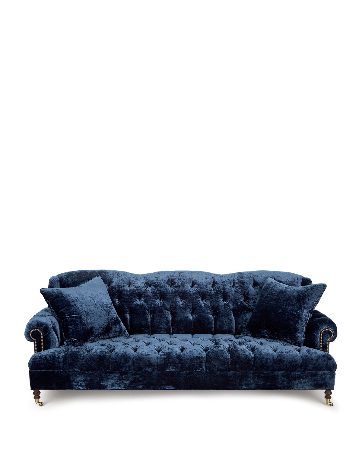Bz Futon Divine Tufted Crushed Velvet Sofa 77