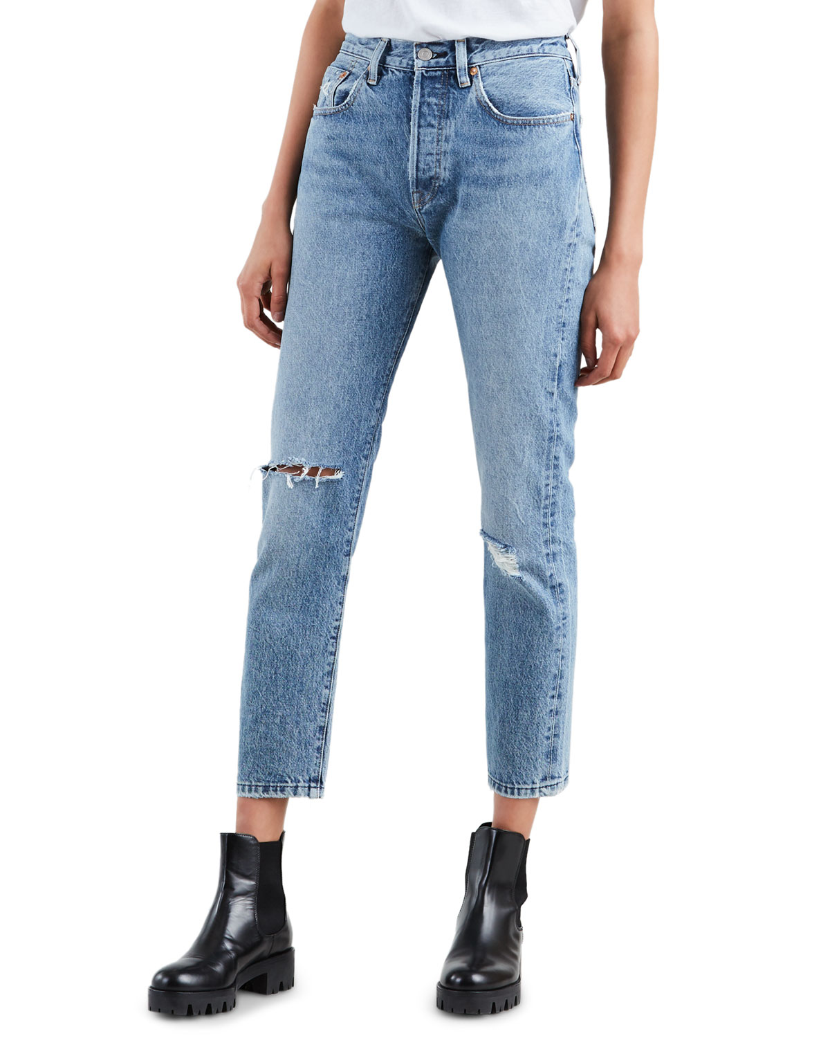 Levi Jeans 501 501 High Rise Cropped Skinny Jeans