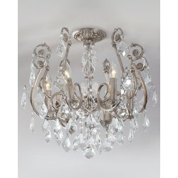 Small Crop Of Flush Mount Chandelier