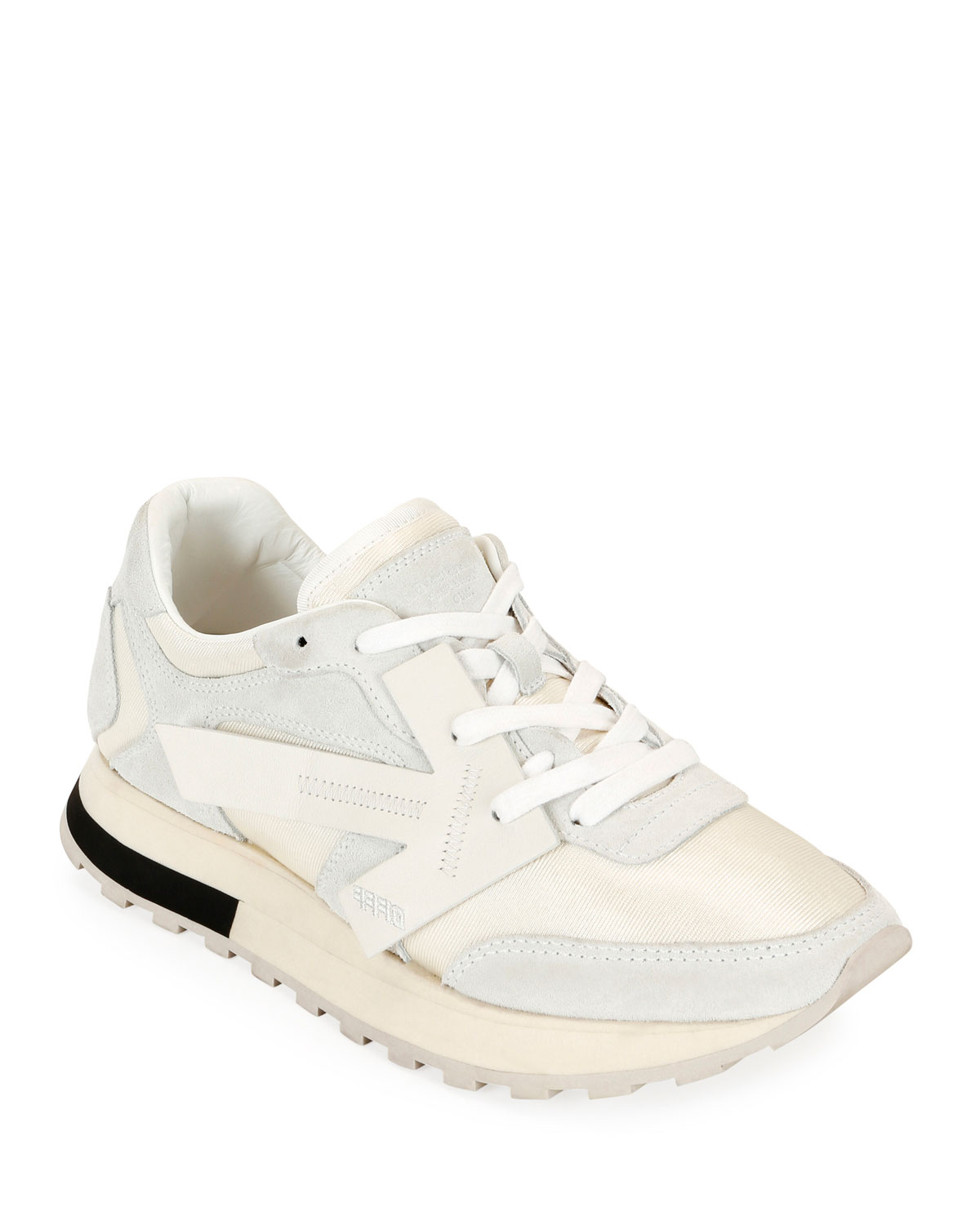 White Runner Hg Runner Low Top Suede Sneakers White