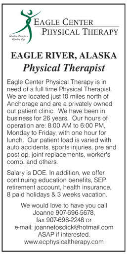 Physical Therapist job in Eagle River Alaska - Healthcare Jobs