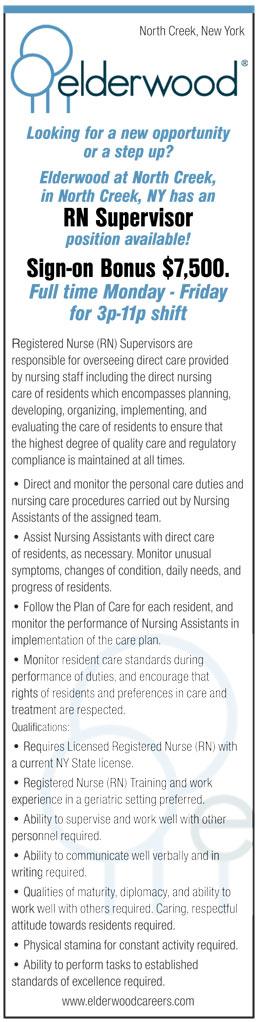 RN Supervisor position available! Sign-on Bonus $7,500 Full time