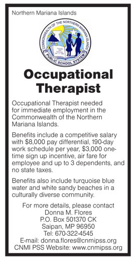 Occupational Therapist job in Northern Mariana Islands International