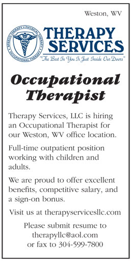 Occupational Therapist job in Weston West Virginia - Healthcare Jobs - occupational therapist job description