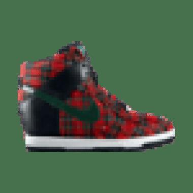 NIKE DUNK SKY HI LONDON Tartan Wedge Sneakers