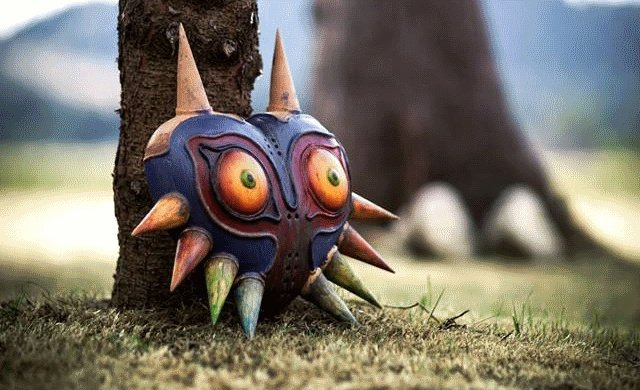 Zelda Ocarina Of Time 3d Wallpaper Weirdness This Real Life Majora S Mask Is Incredible