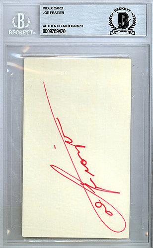 Joe Frazier Autographed 3x5 Index Card - Beckett Certified