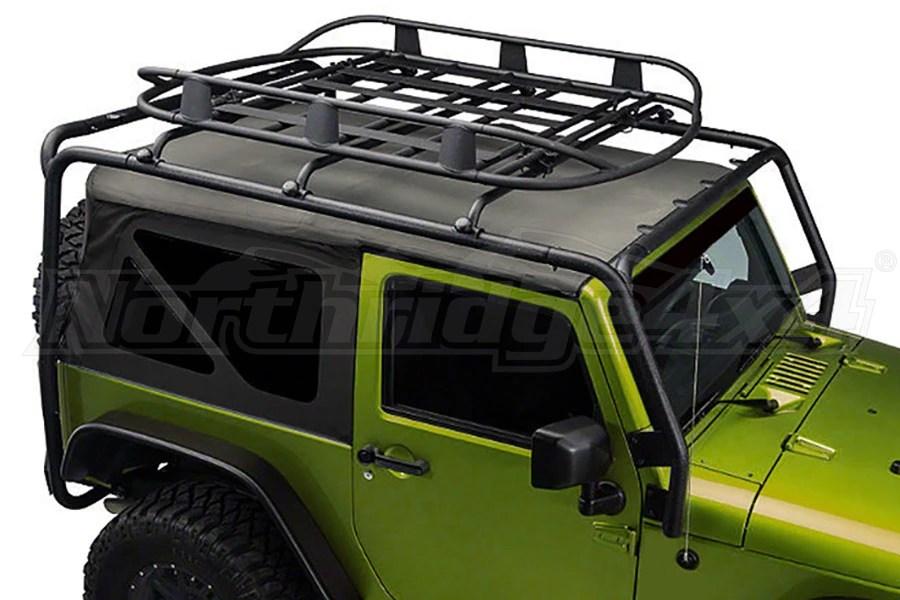 Jeep JK 2DR Smittybilt SRC Roof Rack Black