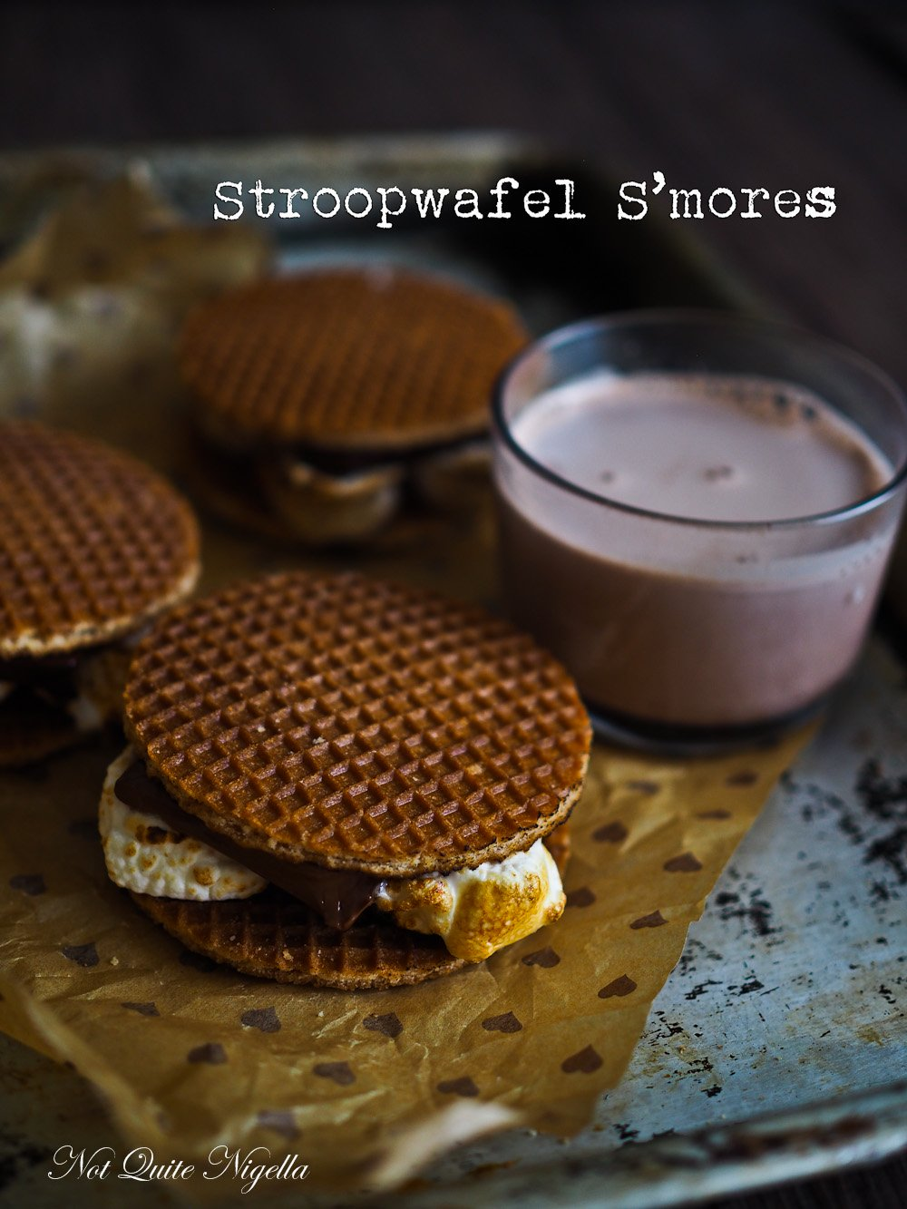 Best Waffles Amsterdam Stroopwafel Smores Recipes @ Not Quite Nigella
