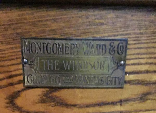 Antique 1930 Montgomery Wards Windsor Ice Box For Sale In